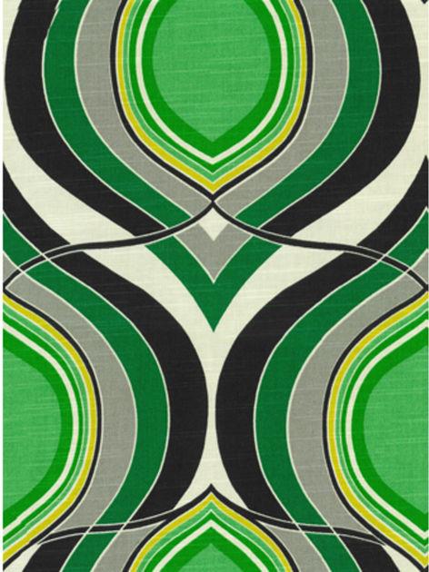 Home decor print fabric hgtv home groove move malachite for Modern home decor fabric prints
