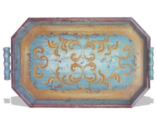 Accessory Trays - This accessory tray was hand crafted and hand painted in Peru be skilled craftsmen and artists using reclaimed and repurposed woods and raw materials. See more at a local Houston showroom!
