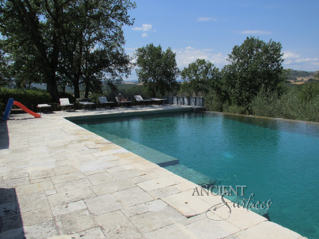 Pools, pool coping, pool deck, pool fountain mediterranean-pool