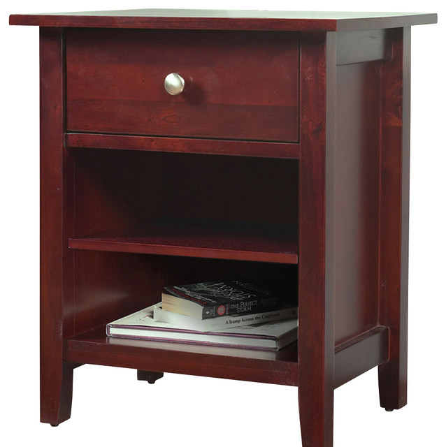 Modus Newport 1-Drawer Nightstand in Cordovan traditional-nightstands-and-bedside-tables