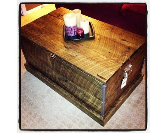 Reclaimed Wood Coffee Table Trunk - Reclaimed Wood Coffee Table Trunk