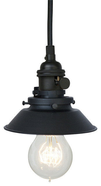 "Farmhouse 4 & 3 4"" Cone Shade Pendant Light Matte Black Farmhouse"