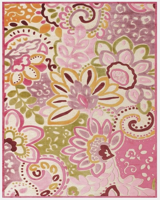 Saphire-Goae, Cream/Pink rug contemporary rugs