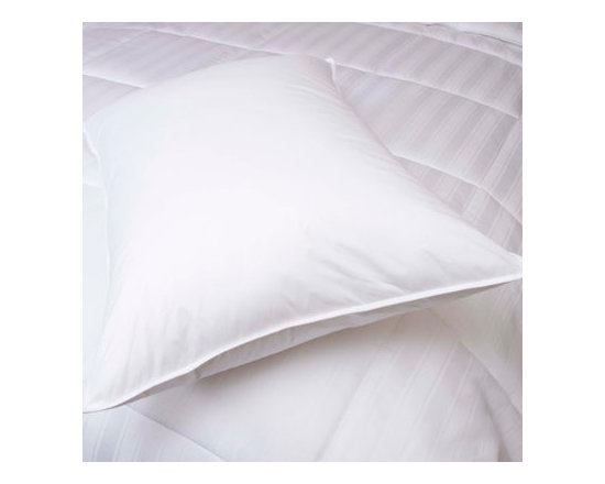 Grandin Road - White Down Pillow - Easy-care down bed pillow. Filled with lofty, hypoallergenic white down. Covered in breathable 230-thread-count 100% cambric cotton fabric. Provides medium-density support that's ideal for back and side sleepers. Machine washable and dryable. Get a great night's sleep with your head upon this classic, lofty white down bed pillow. Each is filled with hypoallergenic white down that offers exceptional loft and medium support, and is covered in 230-thread-count white cambric cotton, so it's perfect for slipping away to dreamland.. . . . .