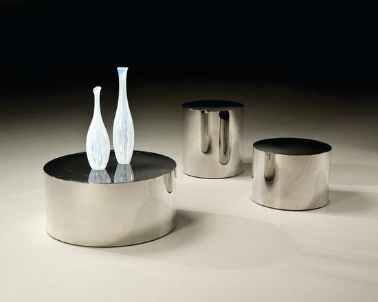 Thayer Coggin - Stainless Steel Drum Tables by Milo Baughman from Thayer Coggin -