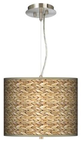 Sea Grass Giclee Pendant Chandelier tropical-pendant-lighting