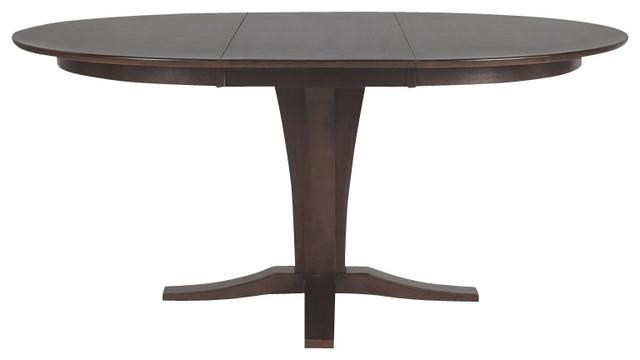 International Concepts Cosmopolitan Milano Pedestal Dining Table in Dark Walnut transitional-dining-tables