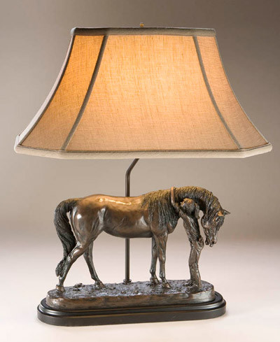 A Morning Nuzzle Horse Lamp traditional table lamps