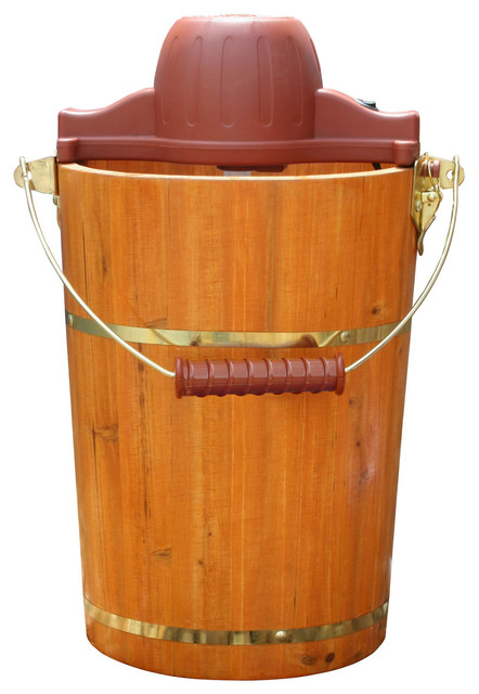 Old Fashioned 6-quart Ice Cream Maker - Contemporary - Coffee Makers And Tea Kettles - by ...