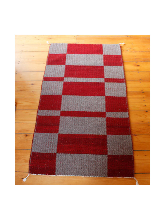 Red Check Rug -