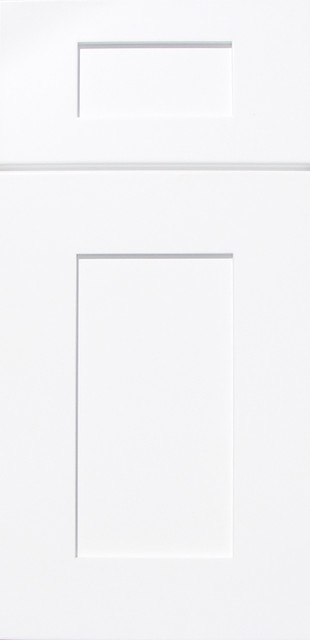 Ice White Shaker Kitchen Cabinets contemporary-kitchen-cabinets