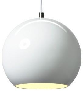 Topan VP6 Pendant Light by Verner Panton in White contemporary-pendant-lighting