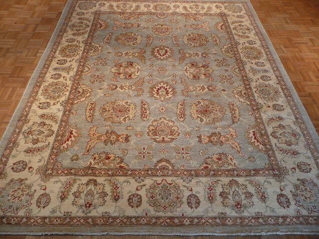 8 X 10 Hand Knotted Light Blue Oushak Rug Rugs Other
