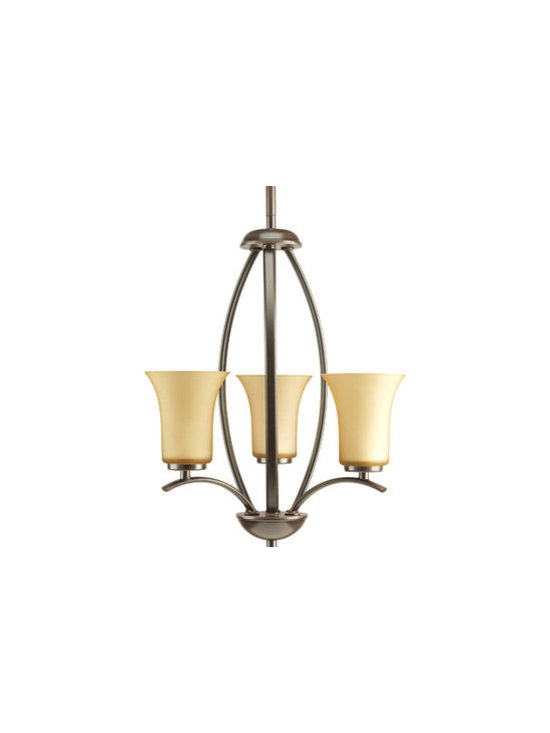 Progress Lighting Joy Three-Light Hall & Foyer - Three-light foyer fixture with fluted glass. Can be stem or chain hung.
