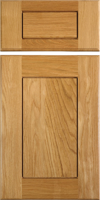 Shaker Style Cabinet Doors in White Oak - traditional - kitchen ...