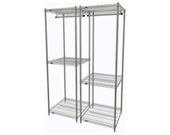 Pair of Metro Closet Organizers Chrome industrial-closet-organizers