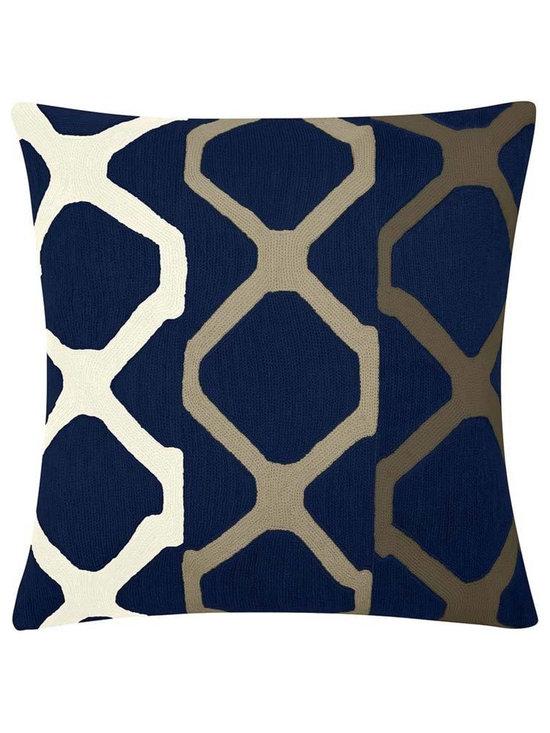 Arbor Navy Cream Pillow -