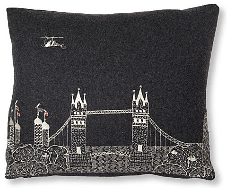 Tower Bridge at Night Cushion modern pillows