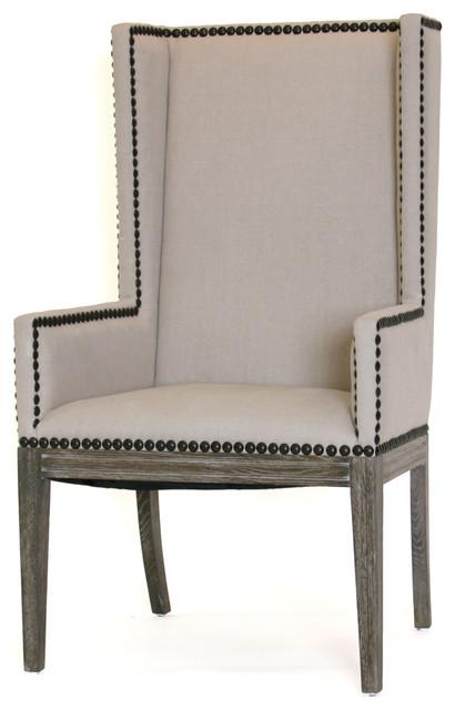 Nailhead Dining Chair - Arms farmhouse-dining-chairs