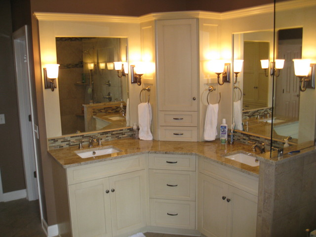 Pinewild Master Bathroom - Transitional - Bathroom - raleigh - by Design Studio for Cabinetry