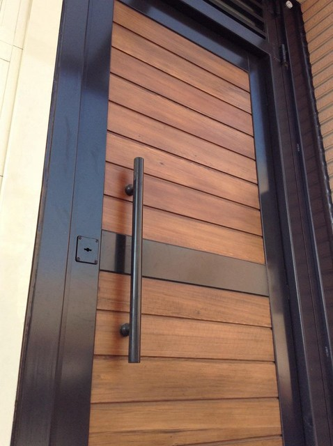Garden door modern front doors other metro by yi for Modern wooden main door design