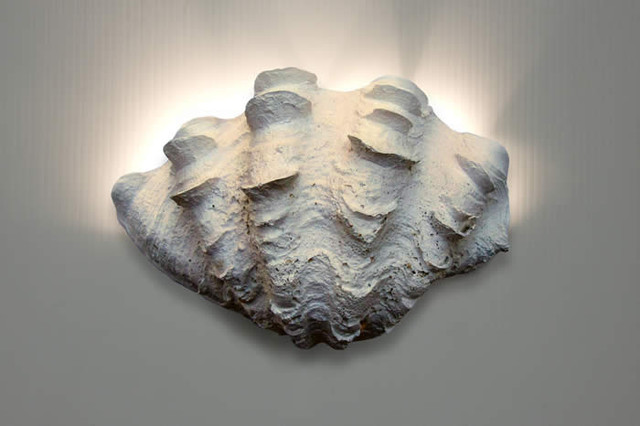 Half Shell Wall Lights : Wall Sconce - Ruffled Clam Shell - Beach Style - Wall Sconces - san francisco - by Coastal Bliss ...