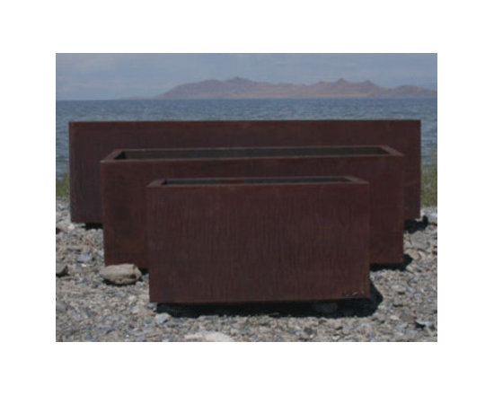 Rectangular Planter - These planters are large and bold. They would be a great way to define or separate off an outdoor space.