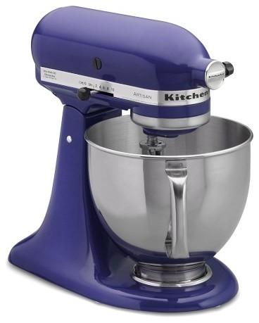 kitchenaid artisan stand mixer cobalt blue contemporary small kitchen
