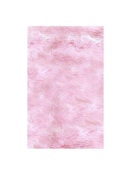 FurAccents - Fur Accents Classic Rectangle Area Rug Premium Shag Faux Fur, Cotton Candy Pink, - Plush sheepskin design. Made from 100% animal free and eco friendly fibers. Perfect for any room in the house. Skilfully made and tastefully lined with real parchment ultra suede. Luxury, quality and unique style for the most discriminating designer/decorator.