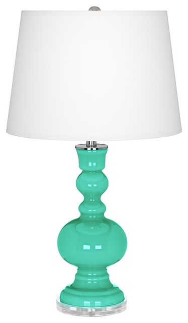Turquoise Apothecary Table Lamp - Contemporary - Table Lamps
