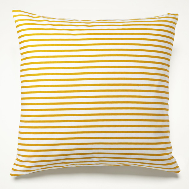 Yellow Sailor Stripe Pillow - Mediterranean - Decorative Pillows - by https://www.unisonhome.com