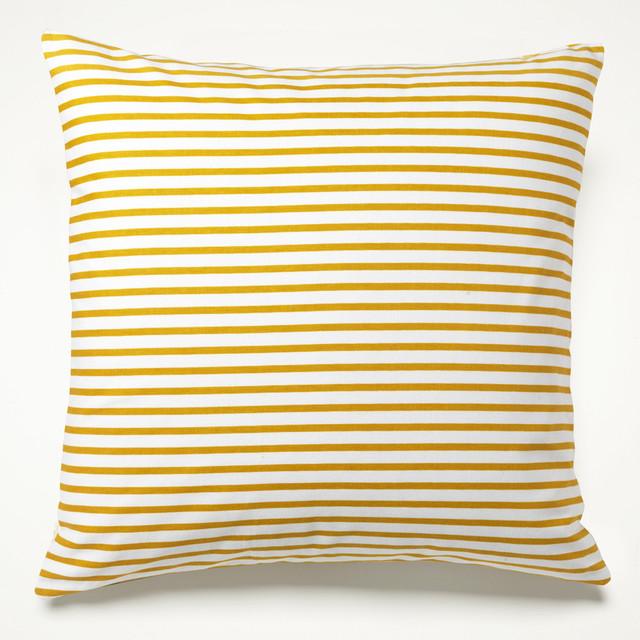 Yellow Sailor Stripe Pillow mediterranean-pillows