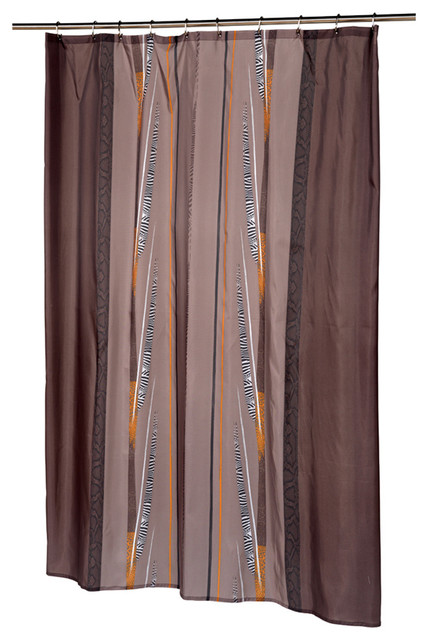 carnation home fashions extra long catherine fabric shower