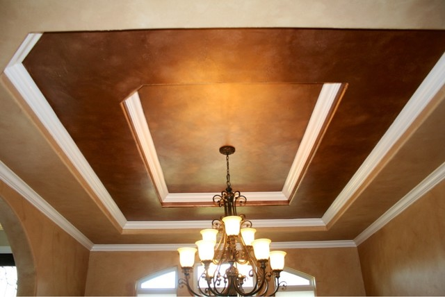 Formal Dining Room Ceiling Metallic Faux Finish