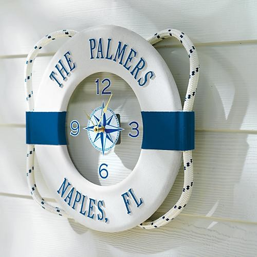 Personalized Nautical Outdoor Clock Tropical