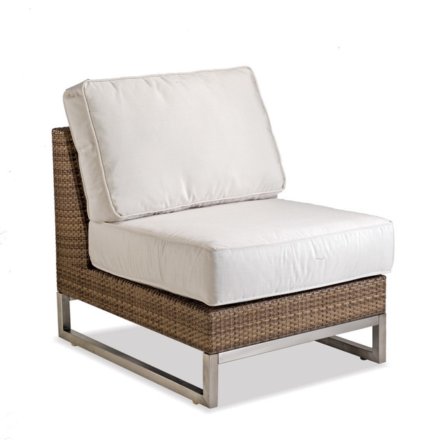 palms wicker outdoor armless sectional modern patio
