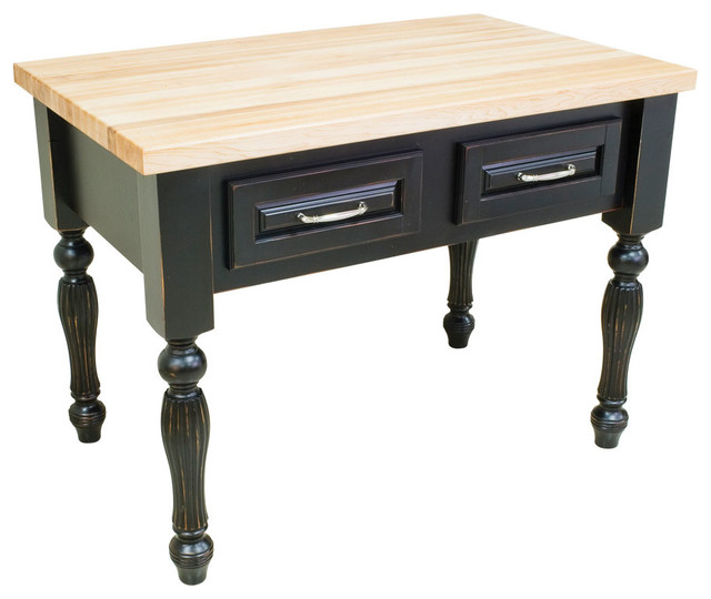 Kitchen Island (distressed black) traditional-kitchen-islands-and-kitchen-carts