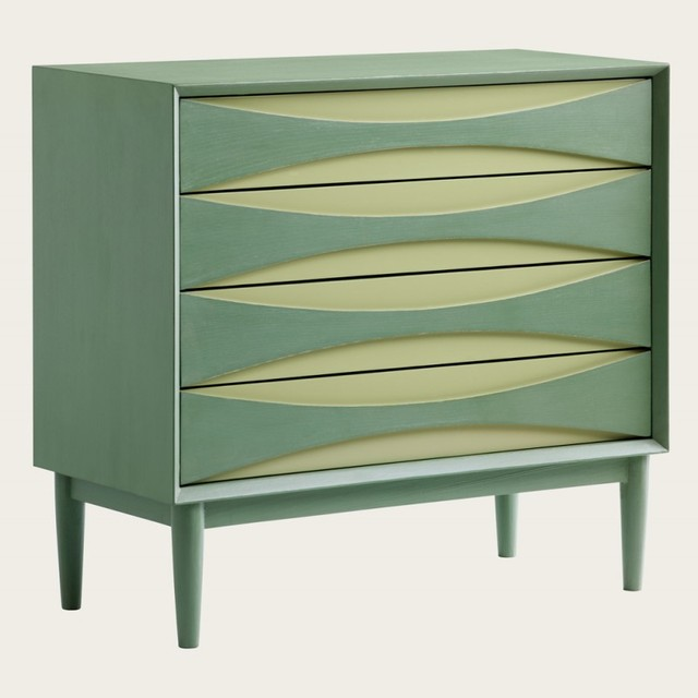 Chest of Four Drawers in Two Tone modern