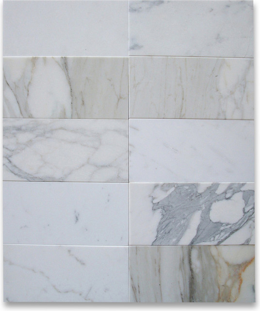 Calacatta Gold 6 x 12 Subway Tile Honed - Marble from Italy wall-and-floor-tile