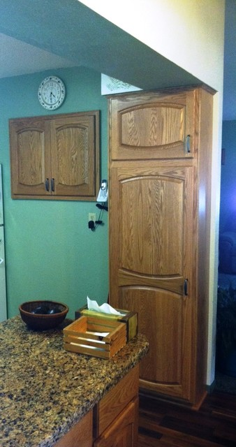 Kitchen Remodel with Cabinet Refacing and Laminate Countertop - Traditional - other metro - by ...
