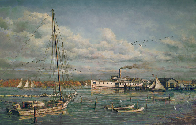 """Bay Country Landing"" by Paul McGehee traditional-artwork"