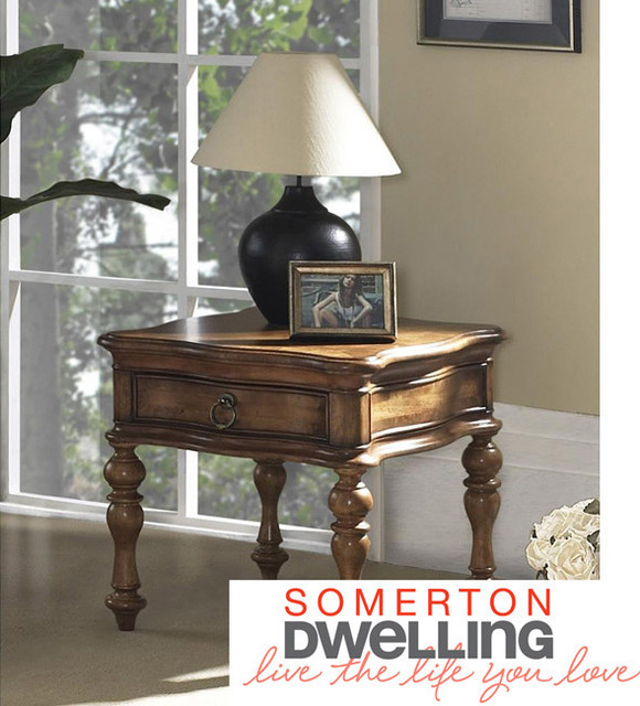 Somerton Dwelling Melbourne End Table contemporary-indoor-pub-and-bistro-tables