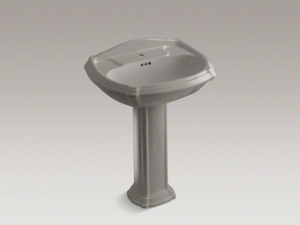 KOHLER Portrait(R) pedestal bathroom sink with single faucet hole contemporary-bathroom-sinks