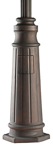"Kichler 9542LD 96"" Cast Aluminum Post with Concrete Hardware traditional-outdoor-lighting"