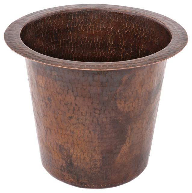 """12"""" Round Copper Champagne Bar/Prep Sink rustic-kitchen-sinks"""