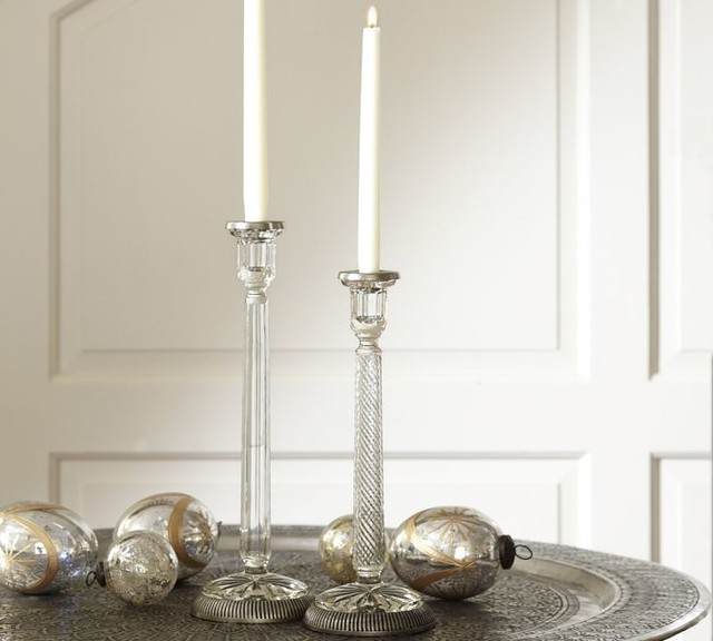 Contemporary Candleholders by Pottery Barn