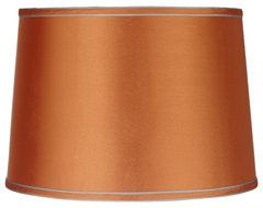 Contemporary Sydnee Satin Orange Drum Lamp Shade 14x16x11 (Spider) contemporary-lamp-shades