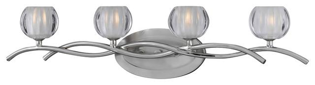 Triarch 25354 Cosmo Satin Nickel 4 Light Vanity contemporary-bathroom-vanity-lighting