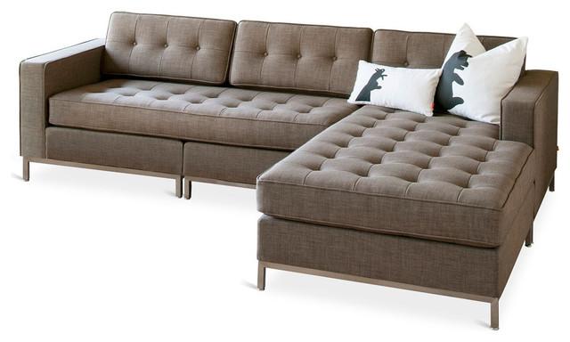 Gus Modern Jane Bi-Sectional Sofa, Laurentian Tundra