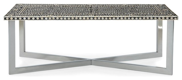 Palma Bone Inlay Cocktail Table Mediterranean Coffee Tables By